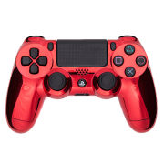 PlayStation DualShock 4 Custom Controller - Chrome Red