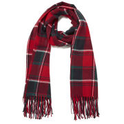 Impulse Women's Check Scarf - Red
