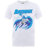 DC Comics Men's T-Shirt - Batman Leap - White