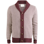 Brave Soul Men's Omega Cardigan - Deep Port
