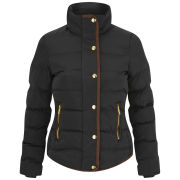 Brave Soul Women's Padded Memory Jacket - Black