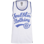 Soul Star Men's Vivid Vest - White/Blue