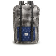 Herschel Little America Mid Volume Backpack - Houndstooth/Navy Polka Dot/Black Rubber