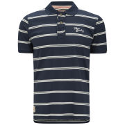 Tokyo Laundry Men's Howse Peak Striped Polo Shirt - Dark Navy