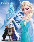 Disney Frozen Mountain - Mini Poster - 40 x 50cm