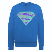 DC Comics Sweatshirt - Superman Glass Logo - Royal Blue