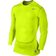 Nike Core Compression 2.0 Long Sleeve Top - Volt