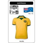 Australia WC 1974 Short Sleeve Retro Football Shirt