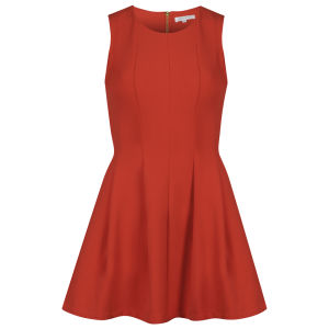 Glamorous Women's Waisted Shift Dress - Orange/Red