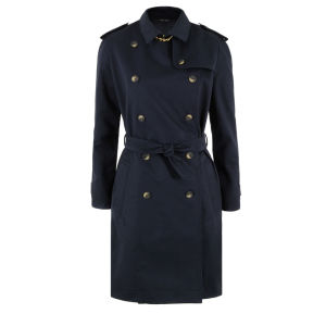 Sophie Hulme Women's Brass Trench - Navy