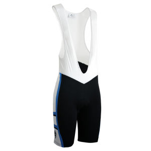 Bianchi Rometta Cycling Bib Shorts - Black/White/Blue