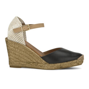 KG Kurt Geiger Women's Monty Espadrille Wedged Sandals - Black -