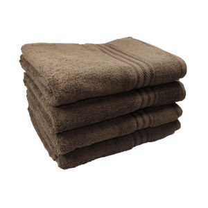 Restmor 100% Egyptian Cotton 4 Pack Bath Sheets - (500gsm) Chocolate