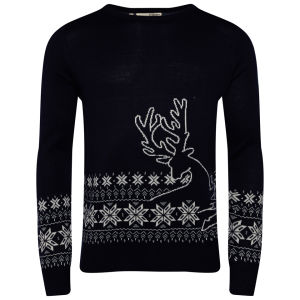 Brave Soul Men's Comet Jumper - Navy