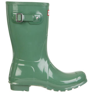 Hunter Women's Original Short Gloss Wellies - Moss Green