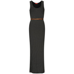 Influence Women's Polka Dot Belted Maxi Dress - Black