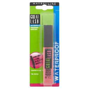 Maybelline New York Great Lash Waterproof Thickening Mascara - Very Black (12.5ml)