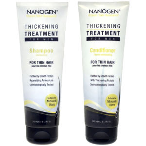 Nanogen Thickening Treatment Shampoo und Conditioner Bundle für Männer