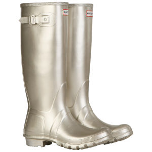 Hunter Women's Original Tall Metallic Wellies - Gold