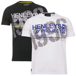 Henleys Men's 2 Pack T-Shirts - Timber White/Timber Black