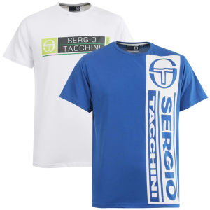 Sergio Tacchini 2-Pack Graphic and Retro T-Shirts - Blue/White