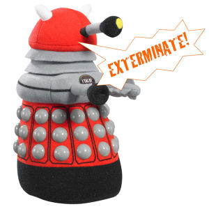 Doctor Who: Medium Red Dalek Talking Plush