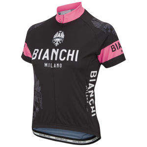 Bianchi Eddi1 Women's Short Sleeve Jersey - Black/Pink