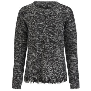 VILA Women's Lokker Fringed Jumper - Black