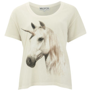 Wildfox Women's Unicorn Print A-Line T-Shirt - Vintage Lace