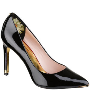 Ted Baker Women's Neevo Patent Pointed Court Shoes - Black