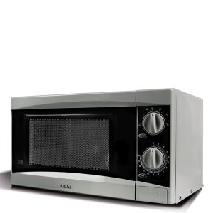 Akai 800W Manual Microwave - Silver