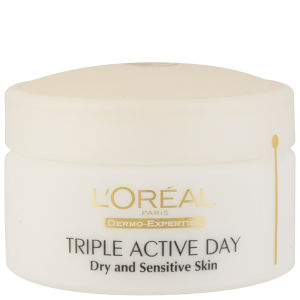L'Oreal Paris Dermo Expertise Triple Active Day Multi-Protection Moisturiser - Dry / Sensitive Skin (50 ml)