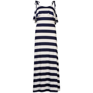 Club L Women's Striped Maxi Dress - White/Navy