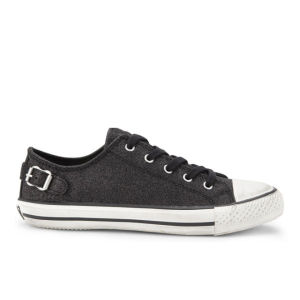 Ash Women's Virgo Low Top Leather Trainers - Black Glitter