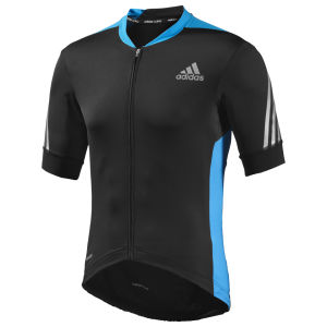 Adidas Supernova Short Sleeve Jersey - Black/Solar Blue