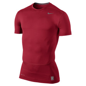 Nike Men's Core Compression Short Sleeve Top 2.0 - Red