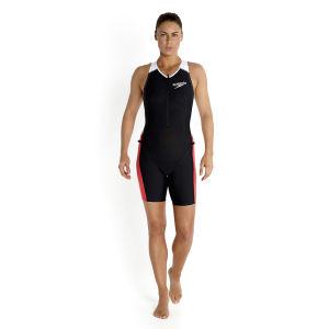 Speedo Women's LZR Racer Tri Comp Suit - Black/Watermelon/White