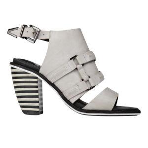 Sol Sana Women's Aria Block Leather Heels - Dove