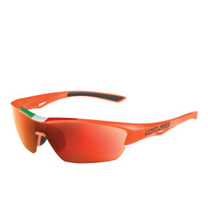Salice 011 ITA Sports Sunglasses - Mirror - Orange/RW Red