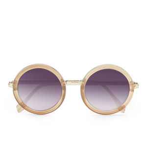 Le Specs Women's Ziggy Round Sunglasses - Spice/Gold