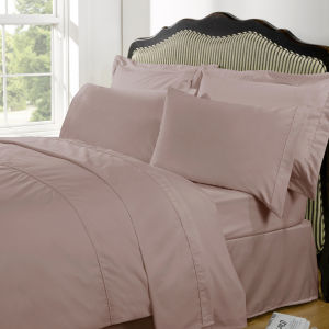 Highams 100% Egyptian Cotton Plain Dyed Fitted Sheet - Vintage Pink