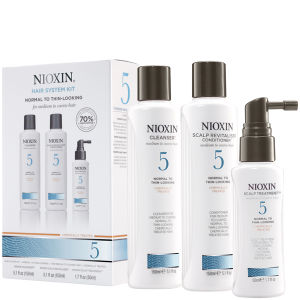 NIOXIN Hair System Kit 5 for Medium to Coarse, Normal to Thin Looking, Natural and Chemically Treated Hair (3 produkter)