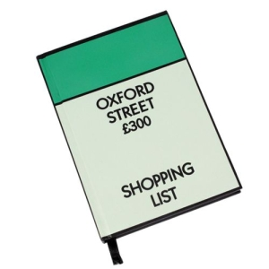 Monopoly Hardback Notebook - Shopping List