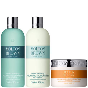Molton Brown Kumada Volumising Shampoo, Conditioner 300ml & Deep Conditioning Hair Mask 200ml (Bundle)