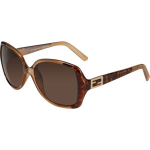 Fendi Oversized Rectangle Sunglasses - Leopard Brown