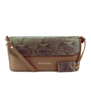 Tommy Hilfiger Women's Marcia Snake Clutch/Crossbody Bag - Summer Cognac