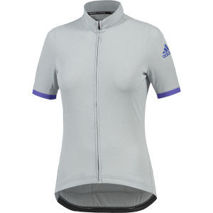 adidas Women's Supernova Climachill Short Sleeve Jersey - Grey/Purple