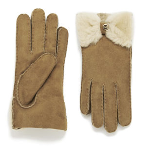 UGG Women's Classic Bow Gloves - Chestnut