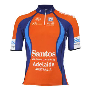 Santini Tour Down Under Ochre Leader Ss Cycling Jersey - 2013