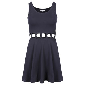 Glamorous Women's Lattice Waist Dress - Navy